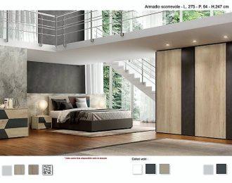 Camera da letto con letto imbottito