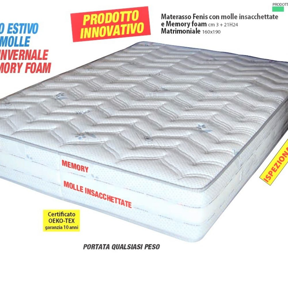 Materasso A Molle O Memory Foam.Materasso H 24 Molle Insacchettate Memory H 5 E Freshgel H5
