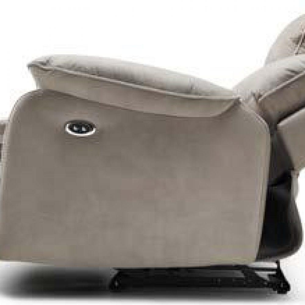 """Divani Con Meccanismo Relax divano """"lugano"""" con meccanismo relax 3 posti in pelle spessorata"""