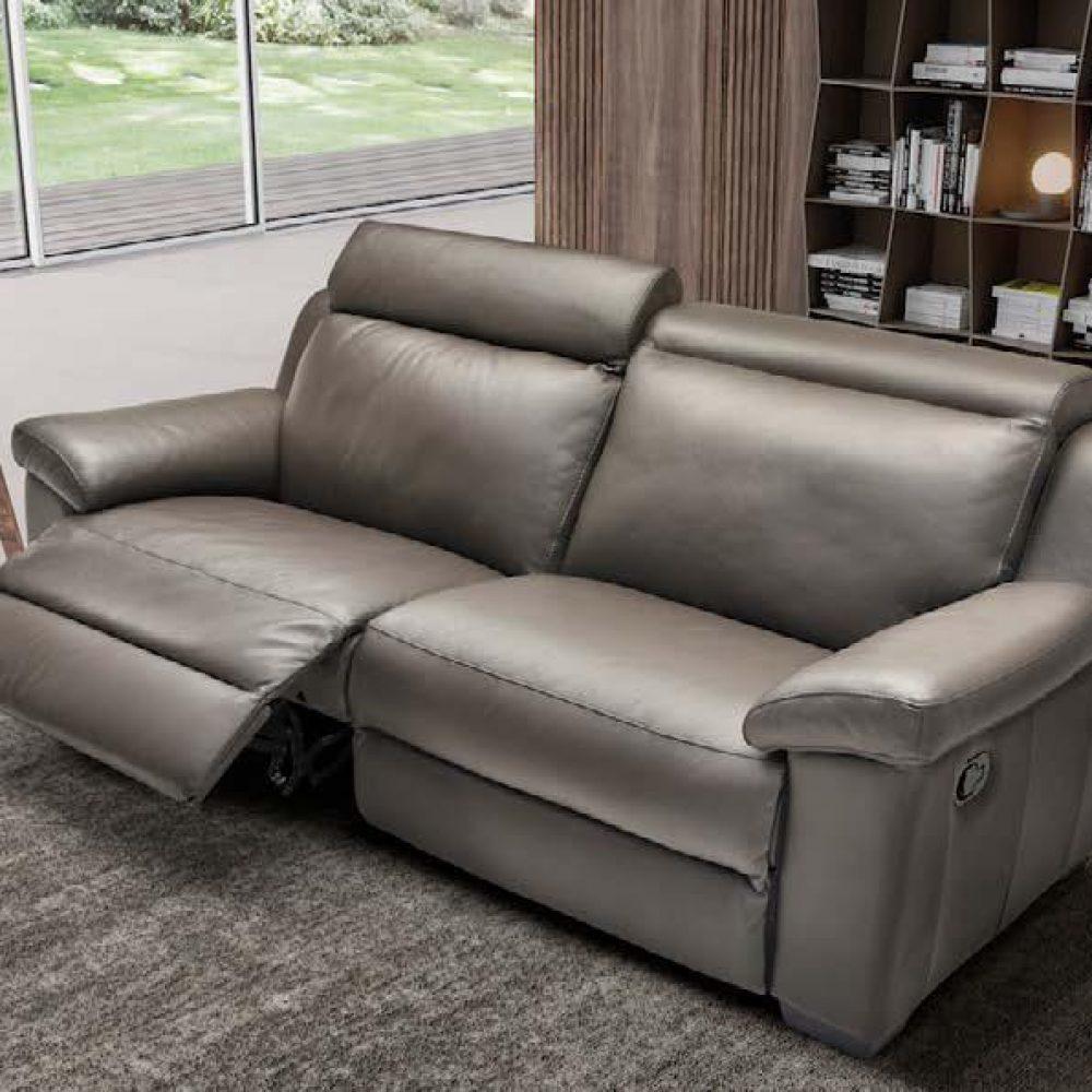 """Divani Con Meccanismo Relax divano """"airone"""" con meccanismo relax 3posti pelle spessorata"""